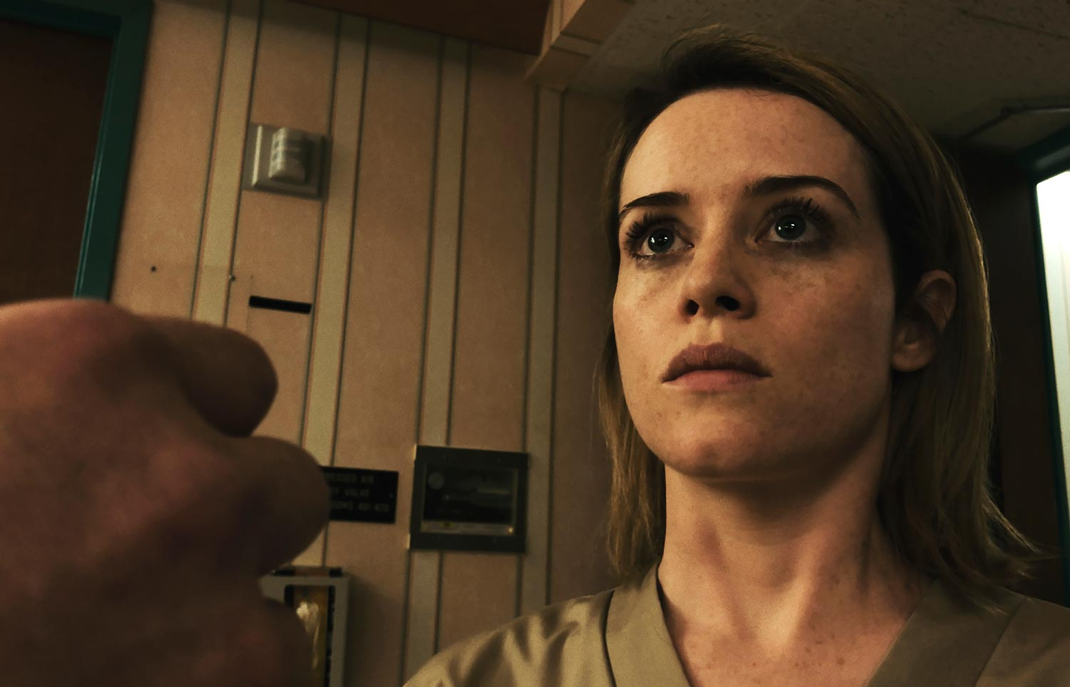 Claire Foy wrongly incarcerated in an asylum in Unsane (2018)