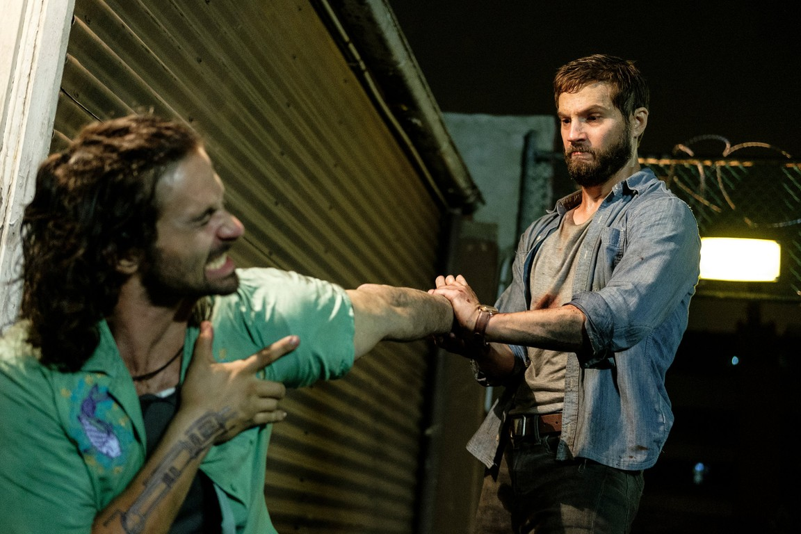 Logan Marshall-Green transformed into a lethal fighting machine with the aid of the Stem chip in Upgrade (2018)