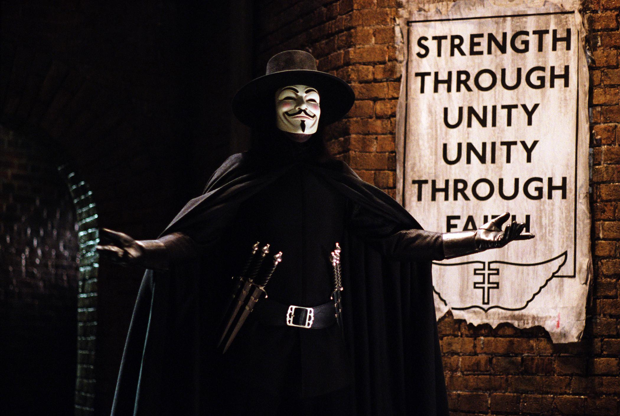 Hugo Weaving as V in V for Vendetta (2006)
