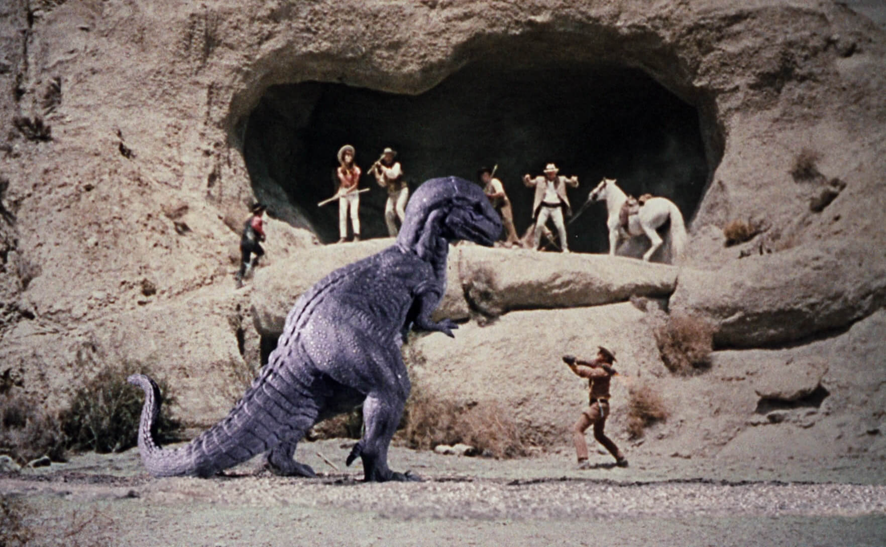 Cowboys vs dinosaurs in The Valley of Gwangi (1969)
