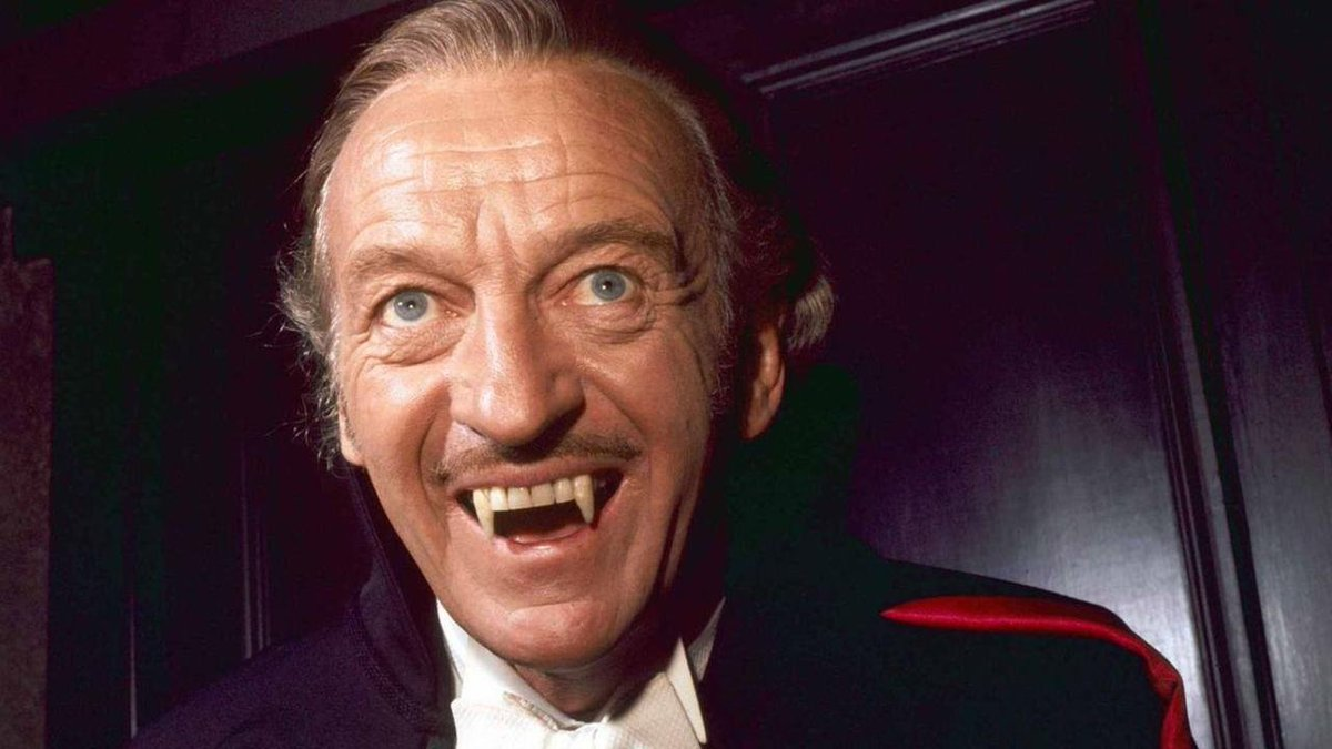 David Niven as Count Dracula in Vampira (1974)