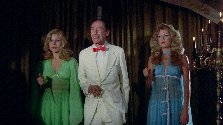 John Carradine. Katie Dolan and Lenka Novak in Vampire Hookers (1978)