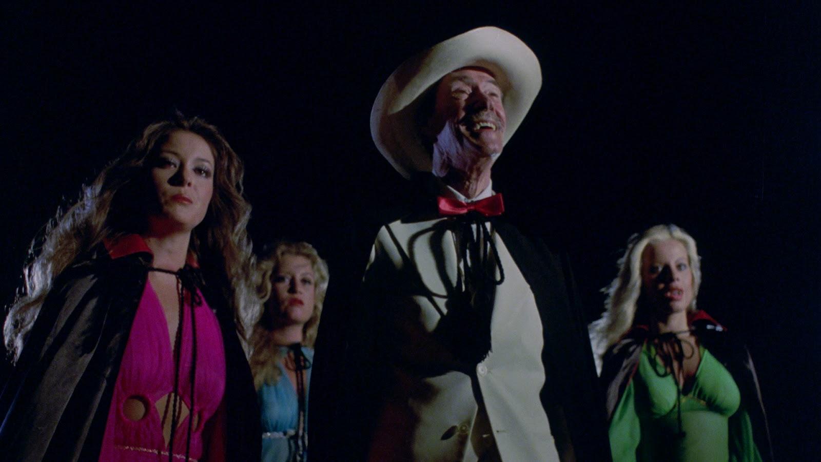 John Carradine, Karen Stride. Lenka Novak and Katie Dolan  in Vampire Hookers (1978)