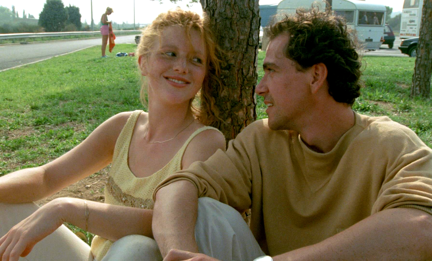 Johanna Ter Steege and Gene Bervoets in a happy moment just before her disappearance in The Vanishing (1988)