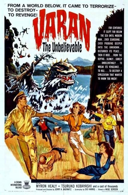 Varan the Unbelievable (1958) poster