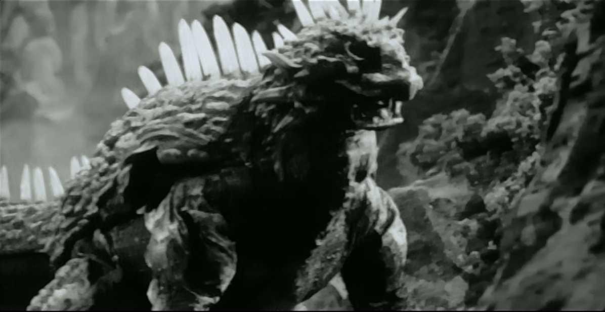 Varan on the rampage in Varan the Unbelievable (1958)