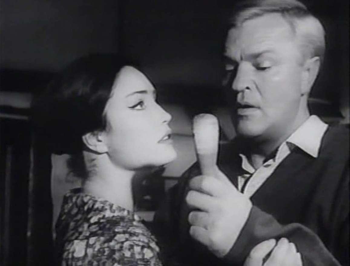 Peter van Eyck and Anne Heywood in Vengeance/The Brain (1962)