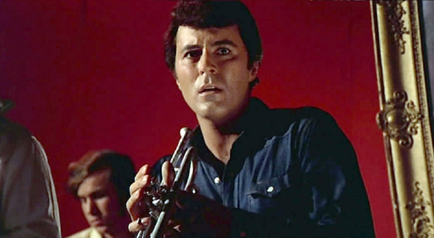Trumpet player James Darren at the centre of a supernatural mystery in Venus in Furs (1969)