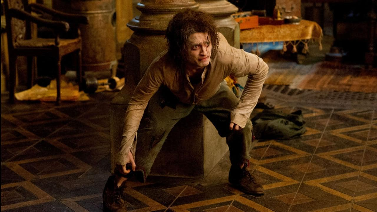 Daniel Radcliffe as the hunchback Igor in Victor Frankenstein (2015) - the only Frankenstein film in which Igor becomes the lead character