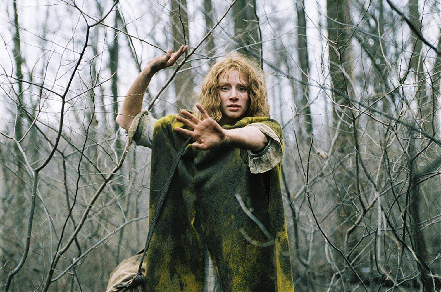 Blind Ivy Walker (Bryce Dallas Howard) makes her way through the woods in The Village (2004)