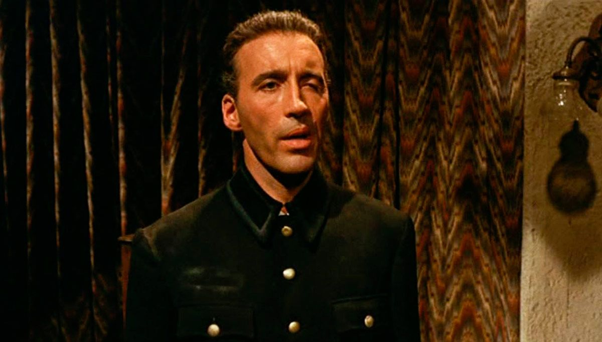 Christopher Lee as the manservant Erich in The Virgin of Nuremberg (1963)