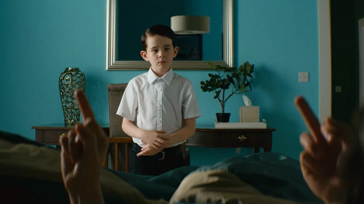The Young Boy (Senan Jennings) in Vivarium (2019)