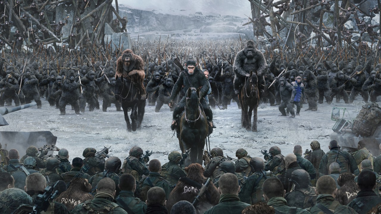 The apes go to war in War for the Planet of the Apes (2017)