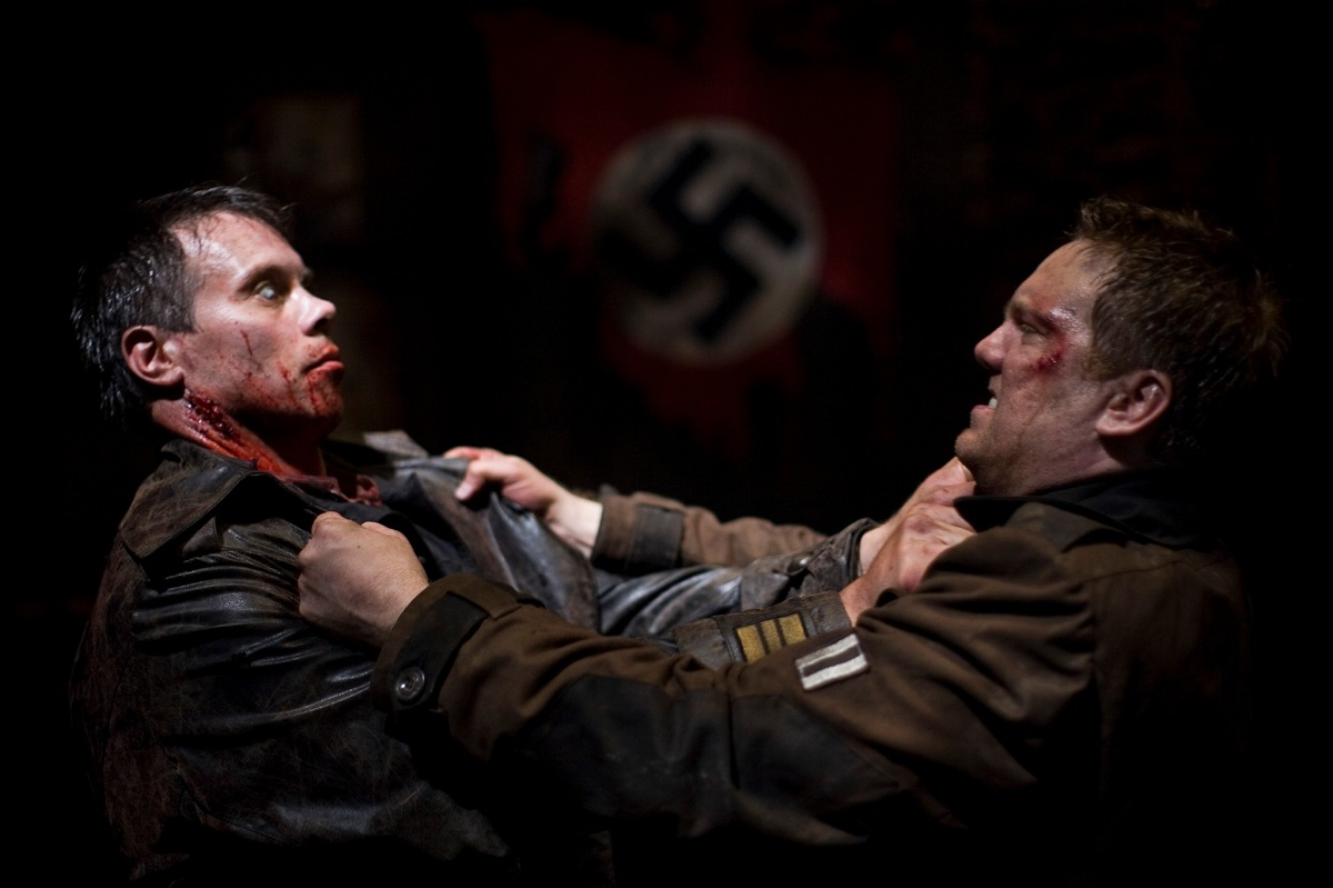 Andrew Tiernan vs a Nazi zombie in War of the Dead (2011)