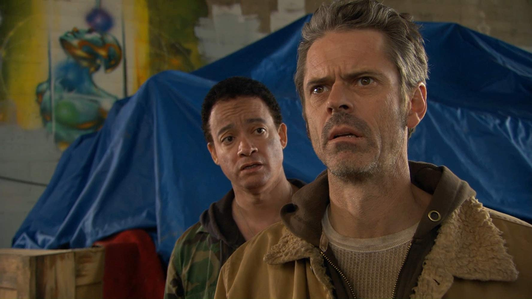 Christopher Reid and C. Thomas Howell (also the film's director) in War of the Worlds 2: The Next Wave (2008)