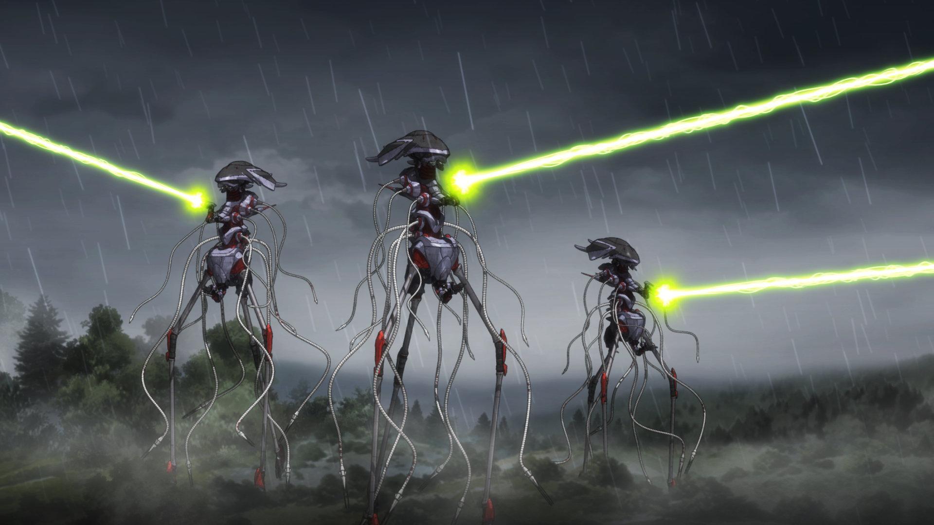 The Martian war machnes in War of the Worlds: Goliath (2012)