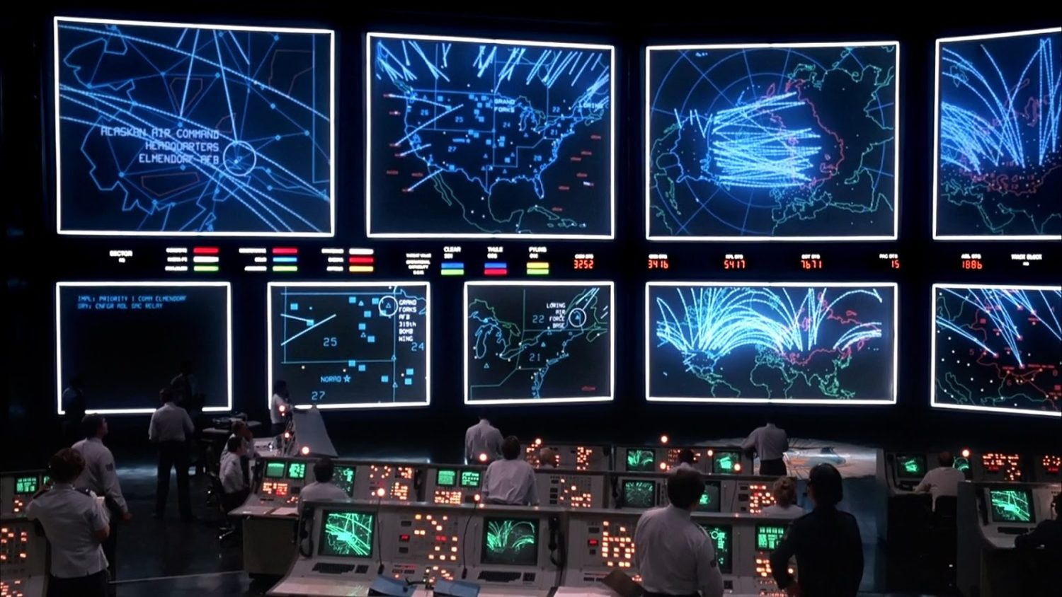 WOPR and the NORAD command centre in WarGames (1983)