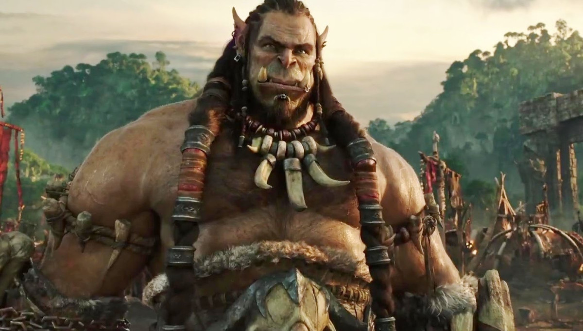 A mocapped Toby Kebbell as Durotan in Warcraft (2016)