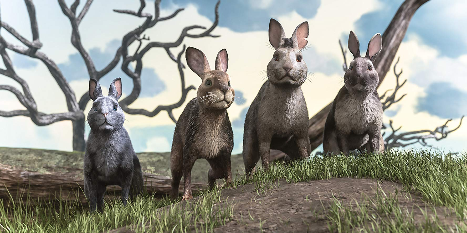 The rabbits set out on a quest to find a new burrow in Watership Down (2018)