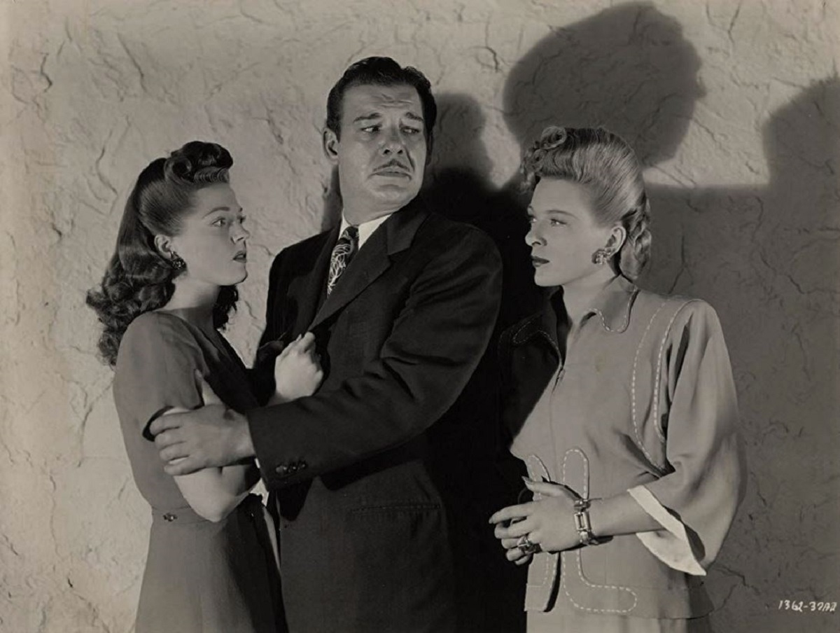 Lon Chaney Jr and his wife Anne Gwynne and rival Evelyn Ankers in Weird Woman (1944)
