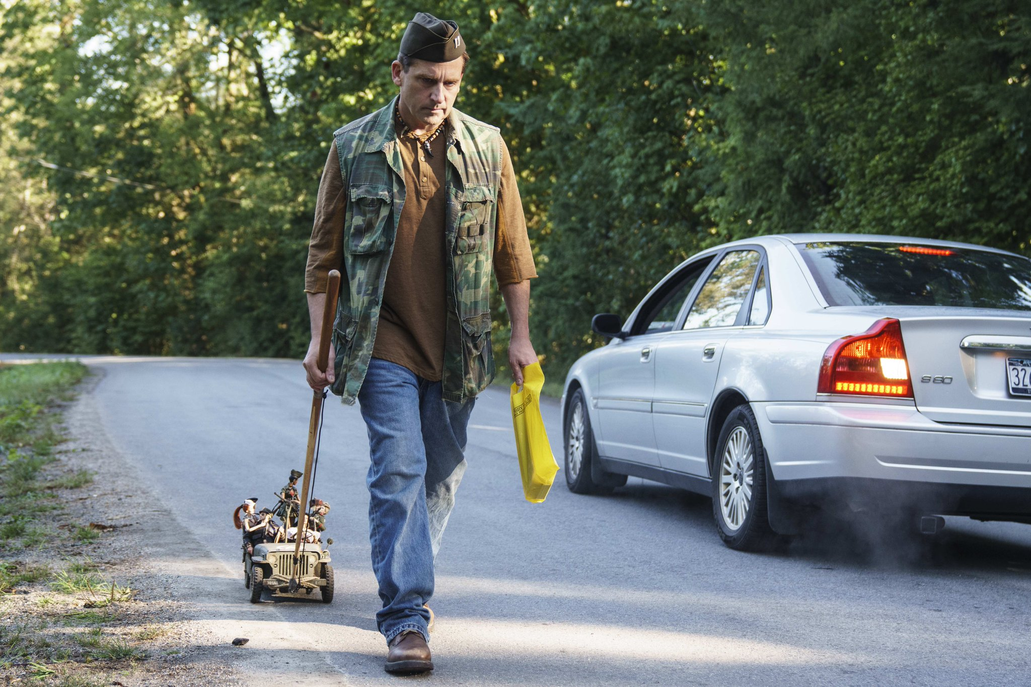 Steve Carell as the real-life figure of Mark Hogancamp in Welcome to Marwen (2018)