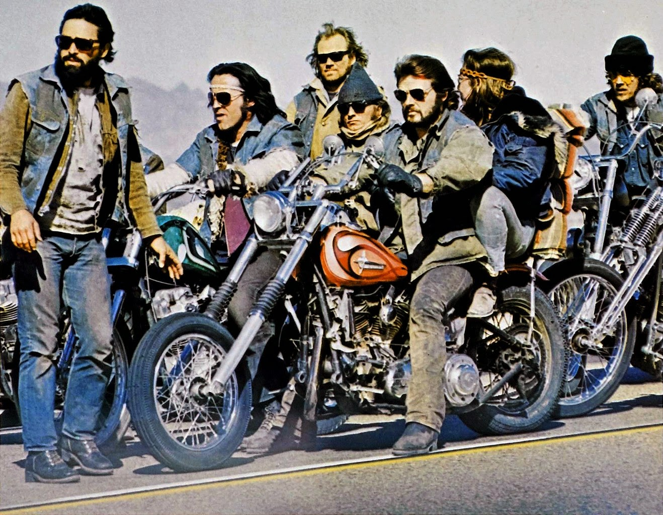 The biker gang in Werewolves on Wheels (1971)