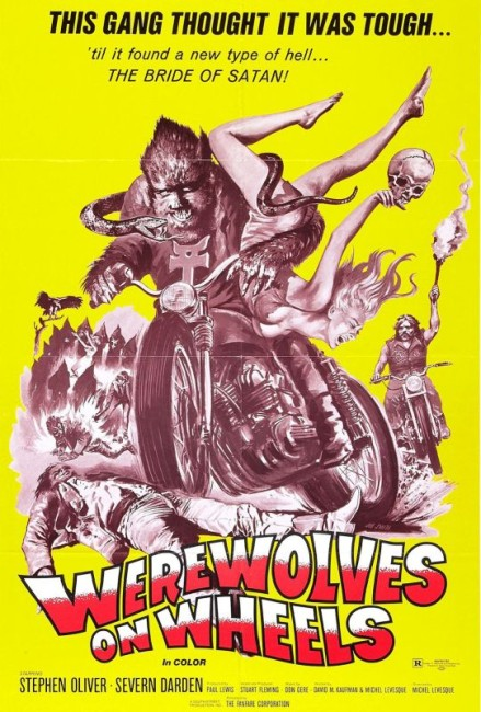 Werewolves on Wheels (1971) poster