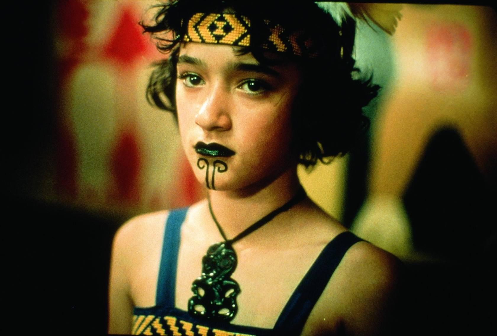 Keisha Castle-Hughes in Maori ceremonial costume in Whale Rider (2002)