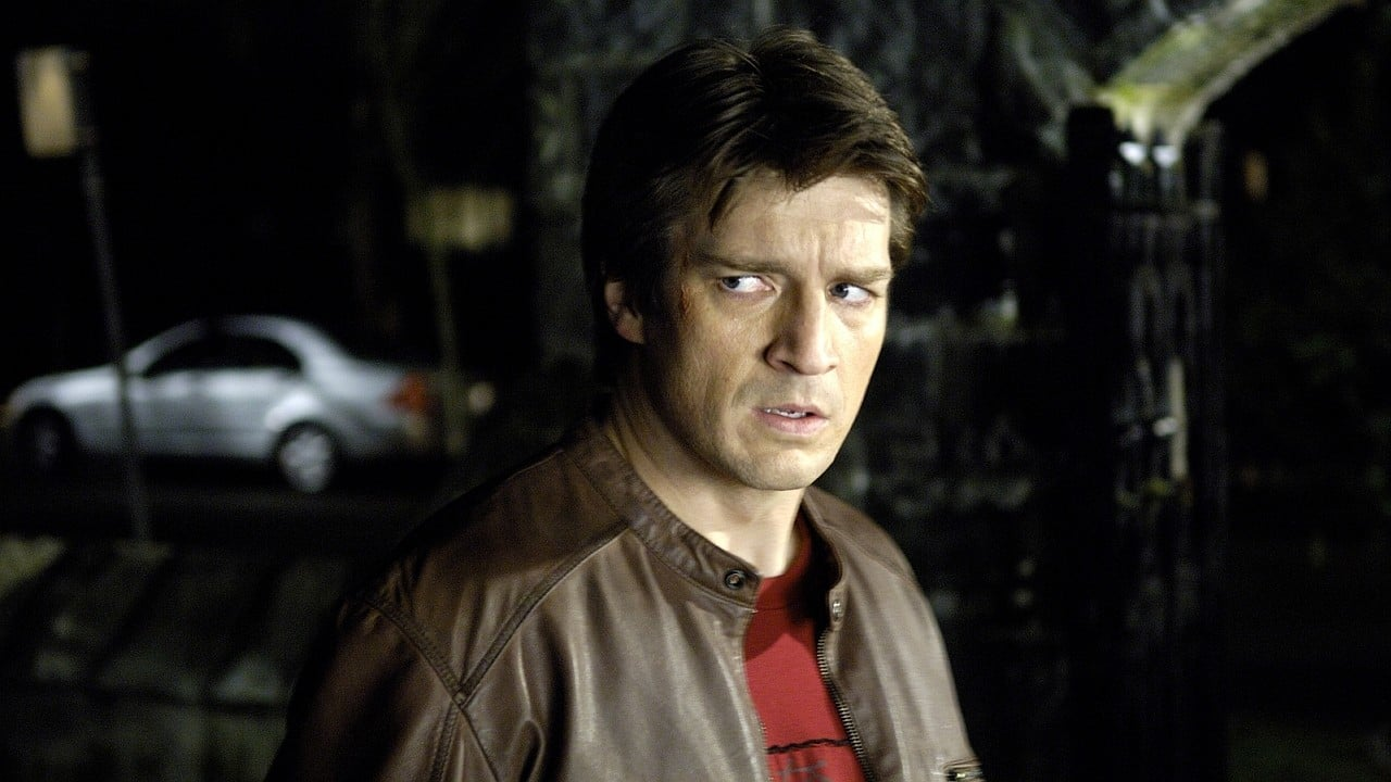 A haunted Nathan Fillion returned from a near-death experience able to see the auras of those about to die in White Noise: The Light (2007)