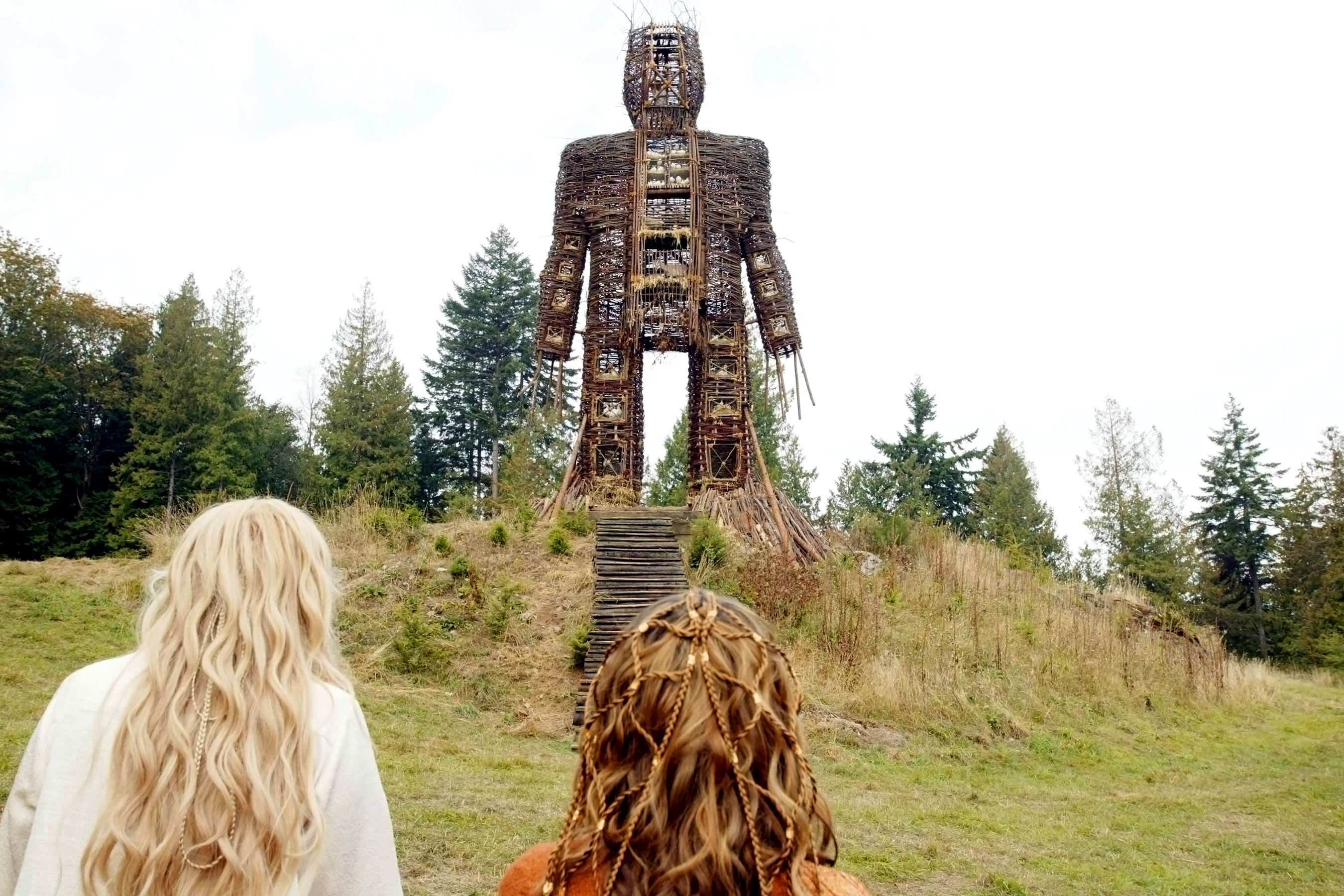 The Wicker Man prepared for sacrifice in The Wicker Man (2006)
