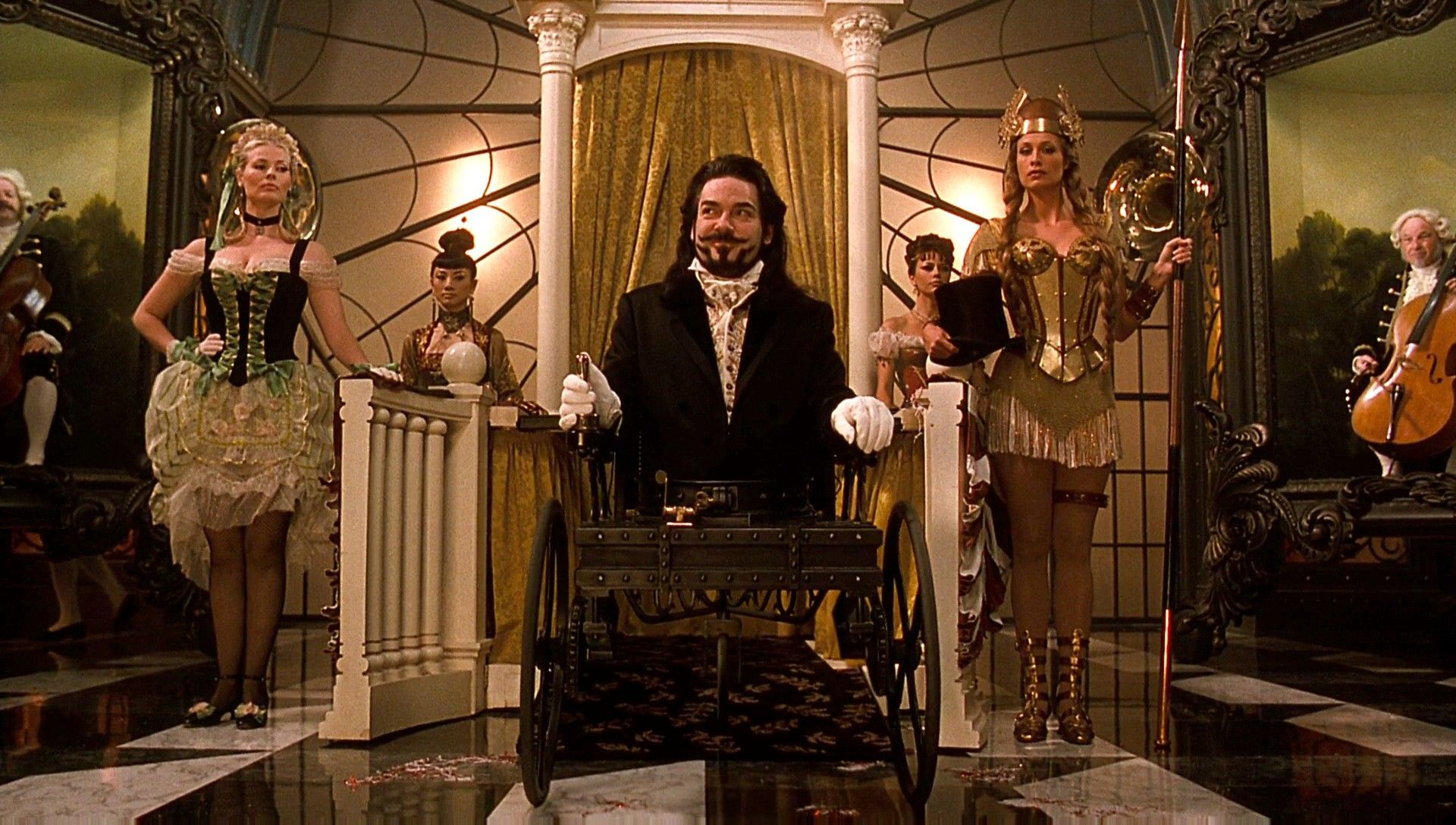 Kenneth Branagh as Dr Arliss Loveless in motorised wheelchair in Wild Wild West (1999)