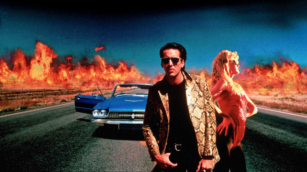 Sailor Ripley (Nicolas Cage) and Lula Fortune (Laura Dern) in Wild at Heart (1990)