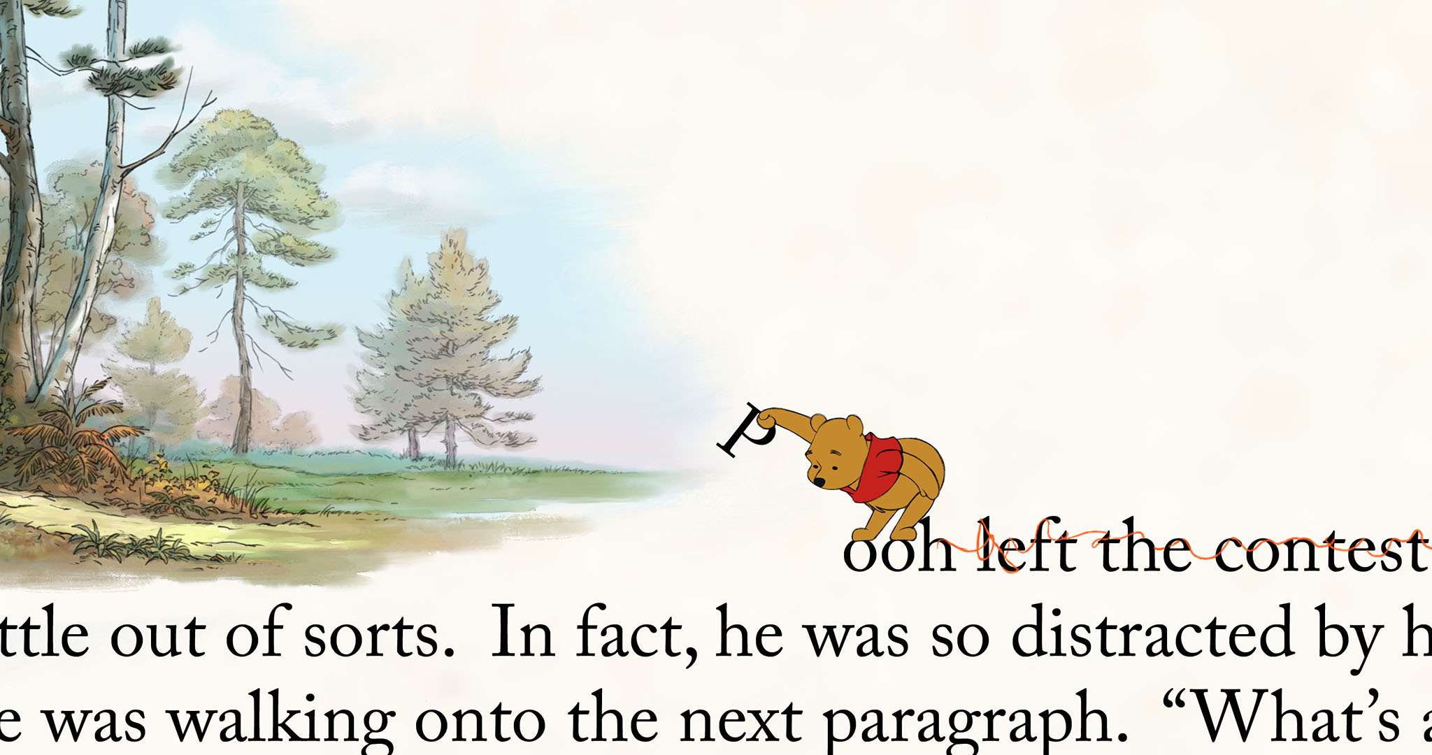 The appealing fourth-wall breaking visuals in Winnie the Pooh (2011)