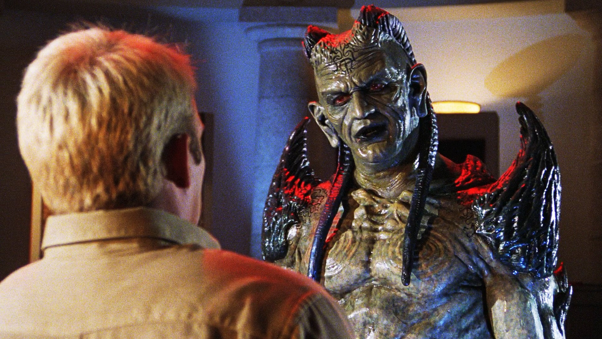 The Djinn (John Novak) appears to Jason Connery in Wishmaster 3: Beyond the Gates of Hell (2001)