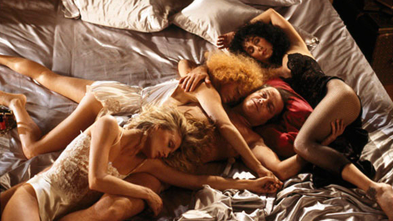 Orgies aplenty - (clockwise from left Michelle Pfeiffer, Susan Sarandon, Cher and Jack Nicholson in The Witches of Eastwick (1987)