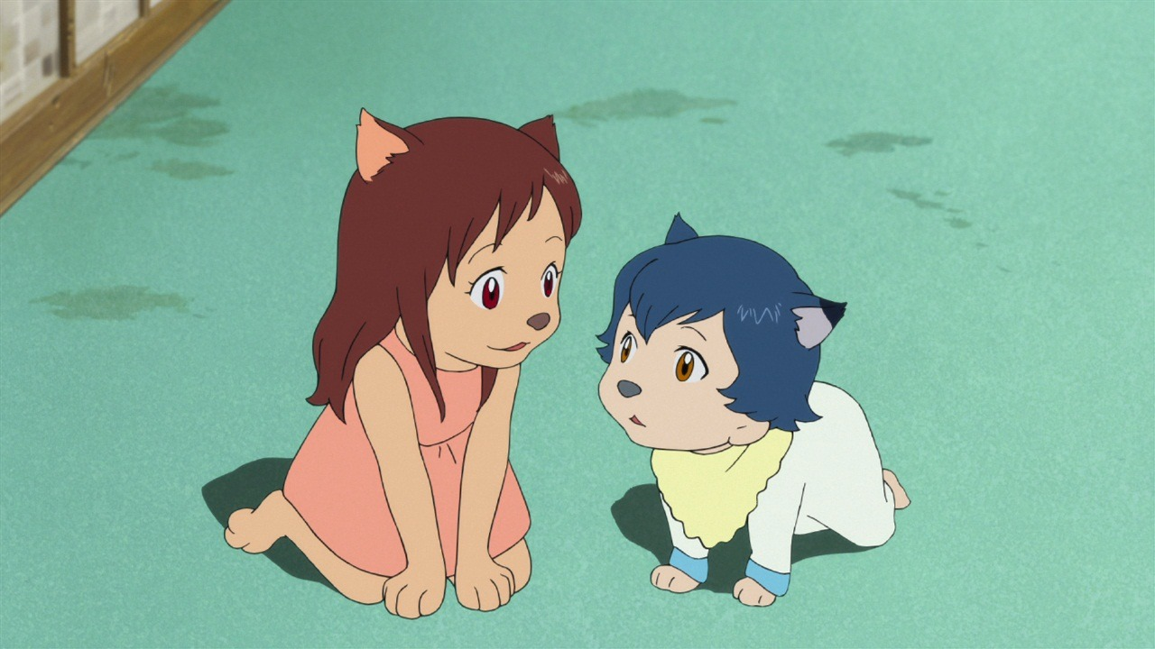 Yuki and Ame in Wolf Children (2012)