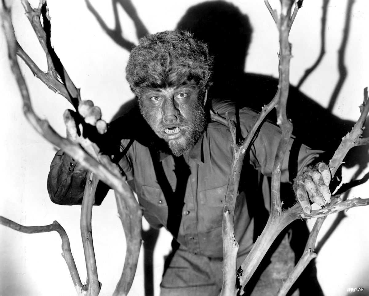 Lon Chaney Jr as Larry Talbot in The Wolf Man (1941)