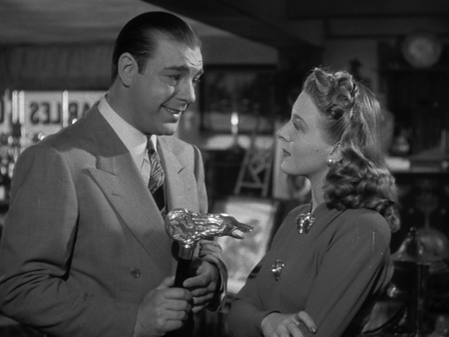 Lon Chaney Jr, Evelyn Ankers in The Wolf Man (1941)