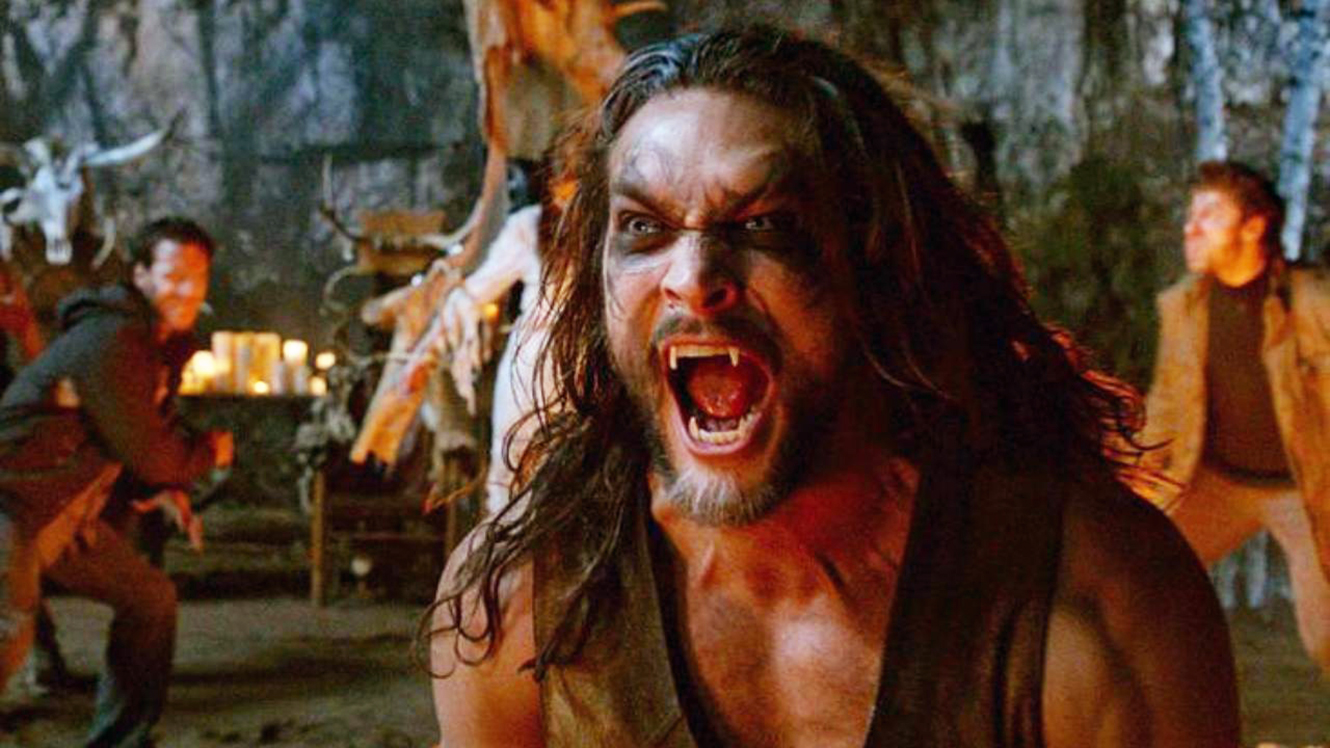 Jason Momoa as a werewolf in Wolves (2014)