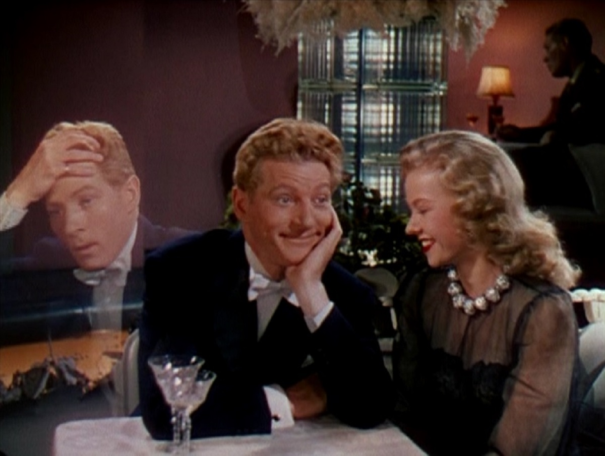 Danny Kaye and ghostly twin brother with Virginia Mayo) in Wonder Man (1944)
