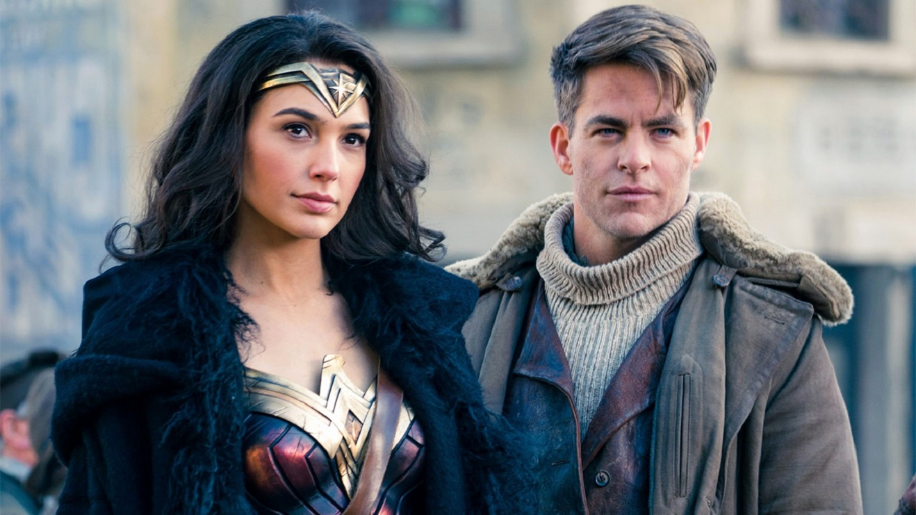 Wonder Woman (Gal Gadot) and Steve Trevor (Chris Pine)