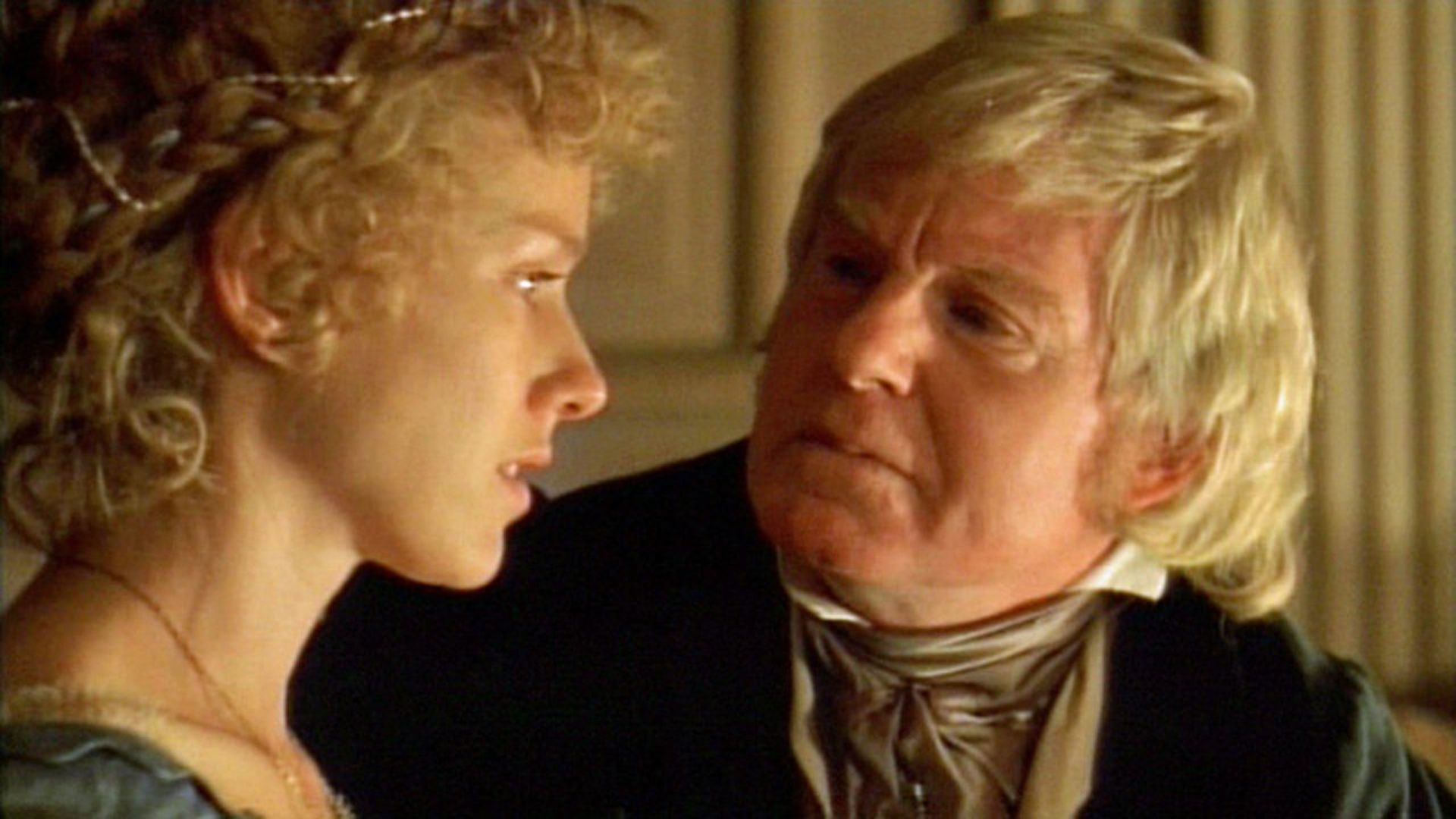 Alice Maybell (Naomi Watts) and the evil Squire Fairfield (Derej Jacobi) in The Wyvern Mystery (1999)