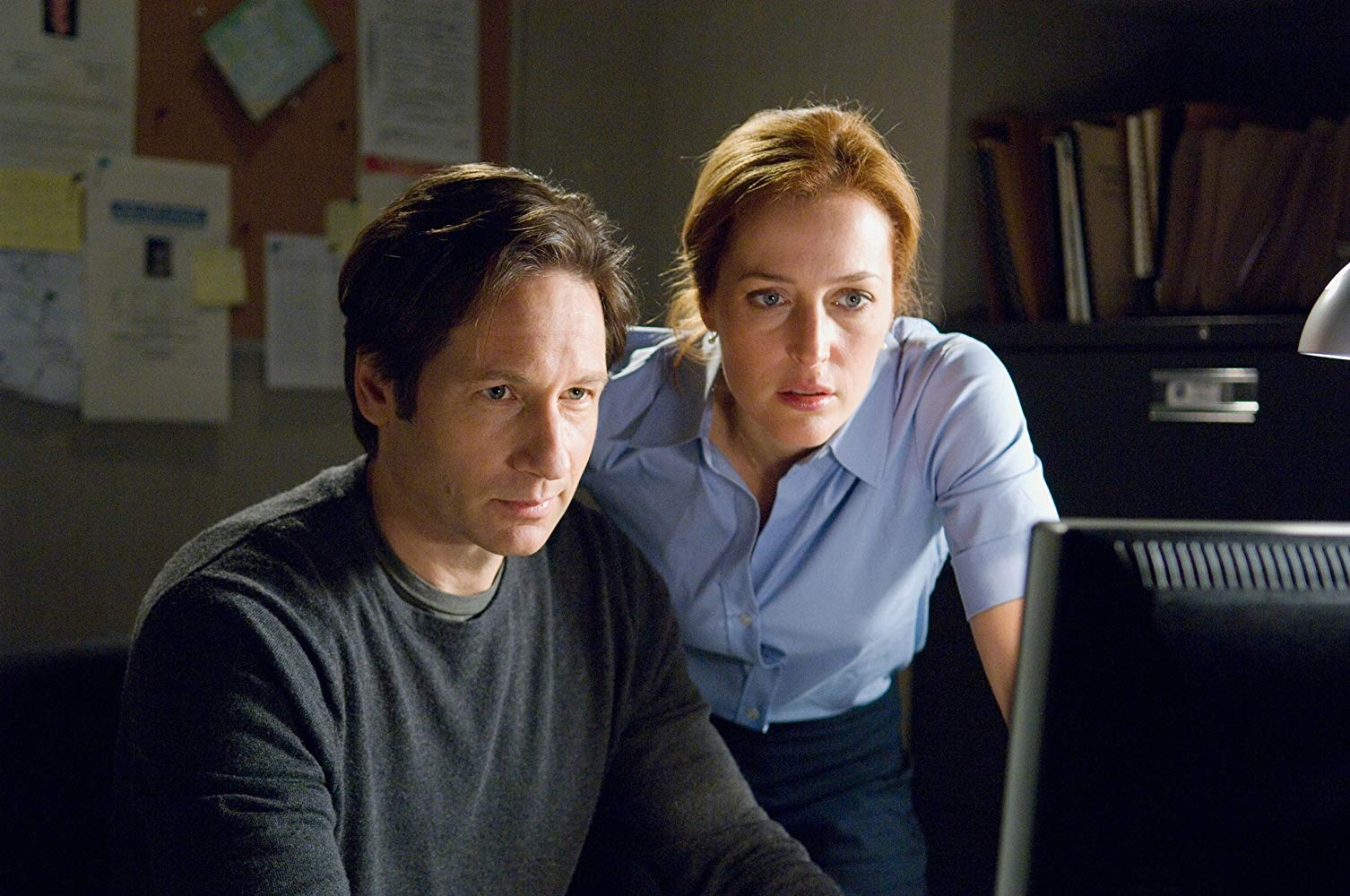 FBI agents Fox Mulder (David Duchovny) and Dana Scully (Gillian Anderson) in The X Files: I Want to Believe (2008)