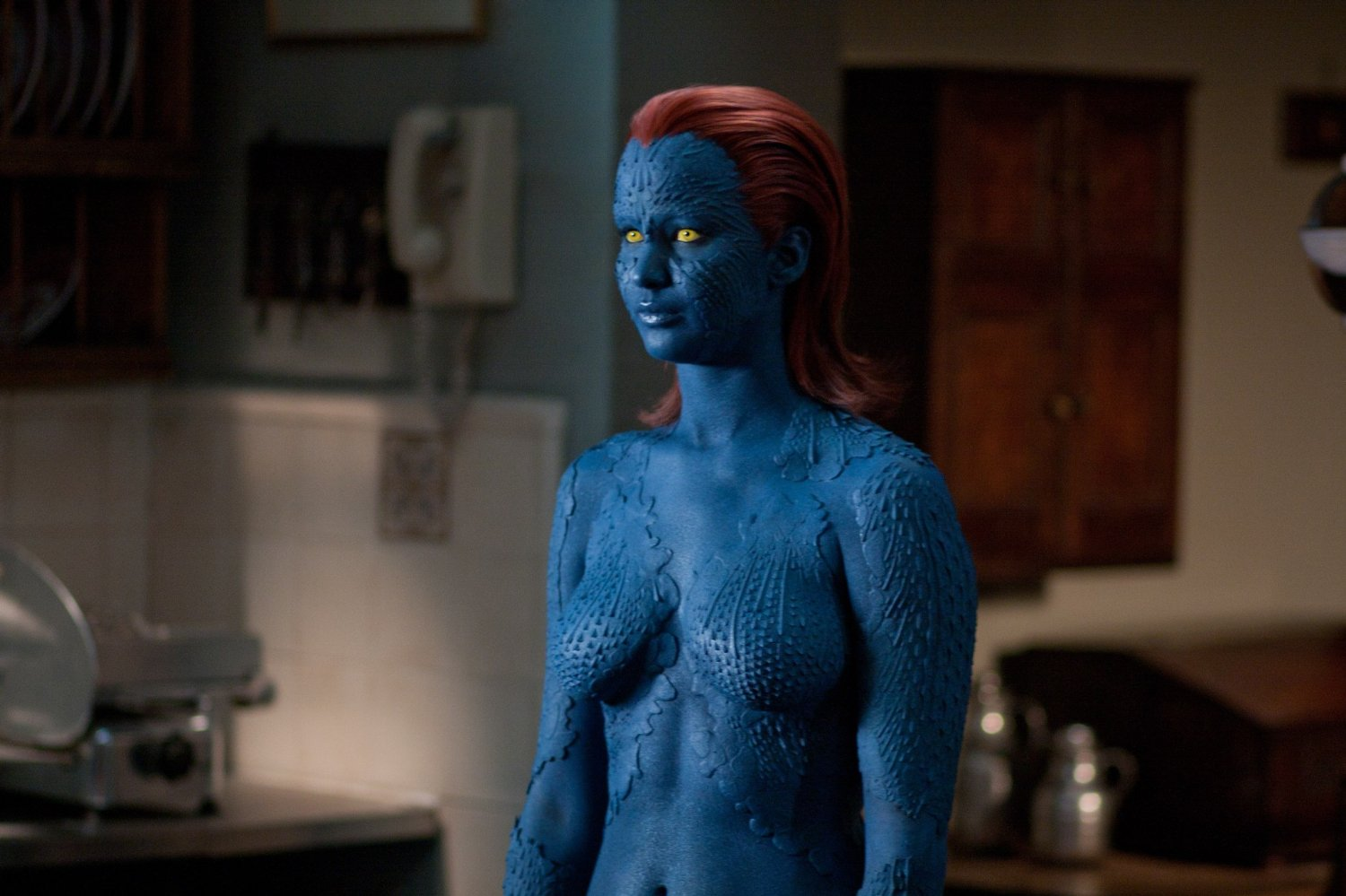 Jennifer Lawrence as the young Mystique in X: First Class (2011)
