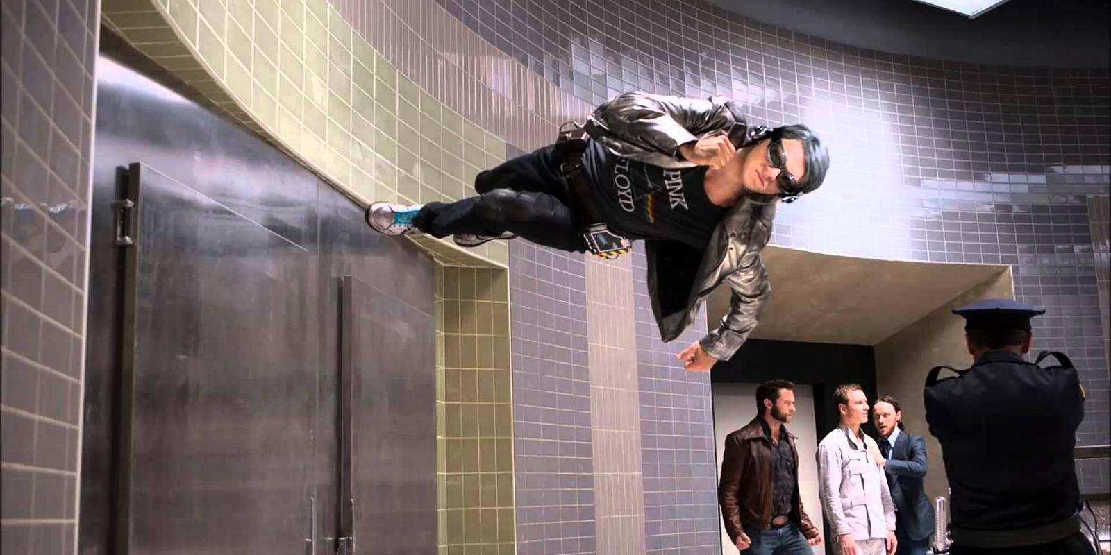 Quicksilver (Evan Peters) in X-Men: Days of Future Past (2014)