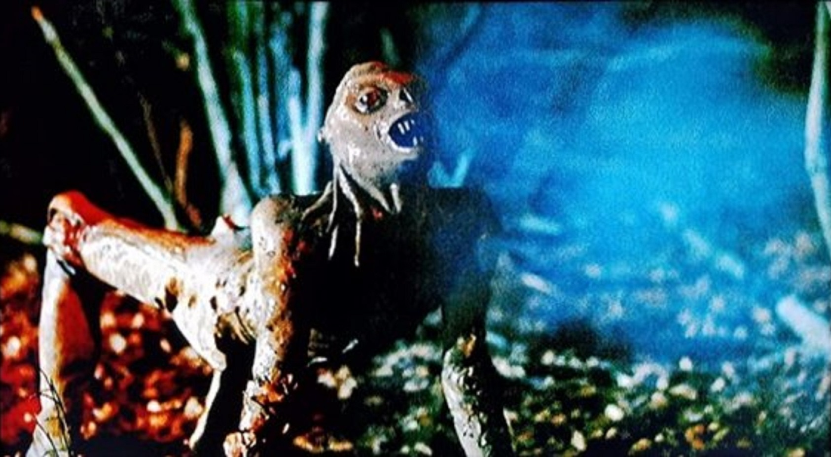 The alien creature in Xtro (1982)