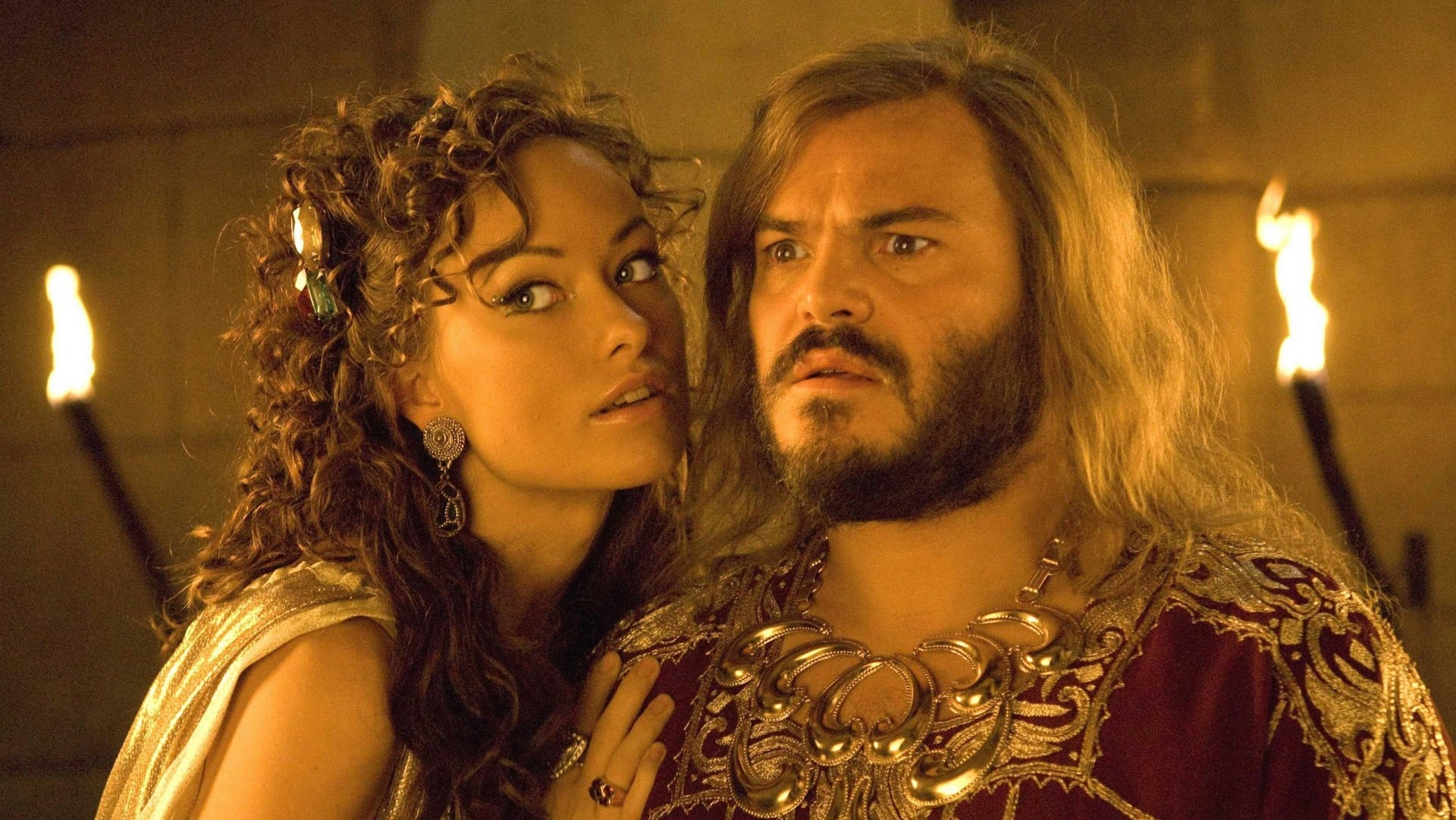 Zed (Jack Black) and Princess Inanna (Olivia Wilde) in Year One (2009)