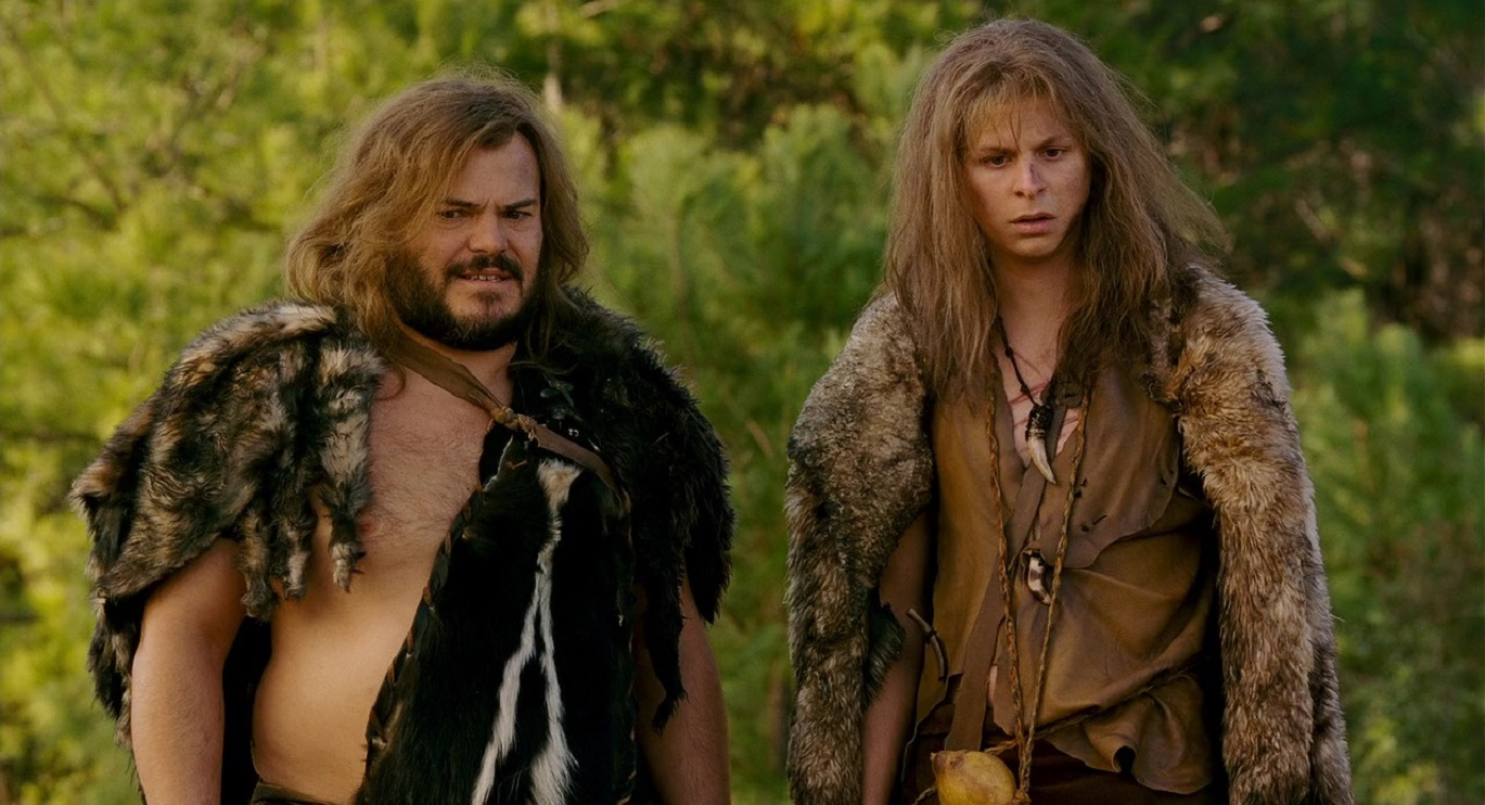 Cavemen (l to r) Zed (Jack Black) and Oh (Michael Cera) in Year One (2009)