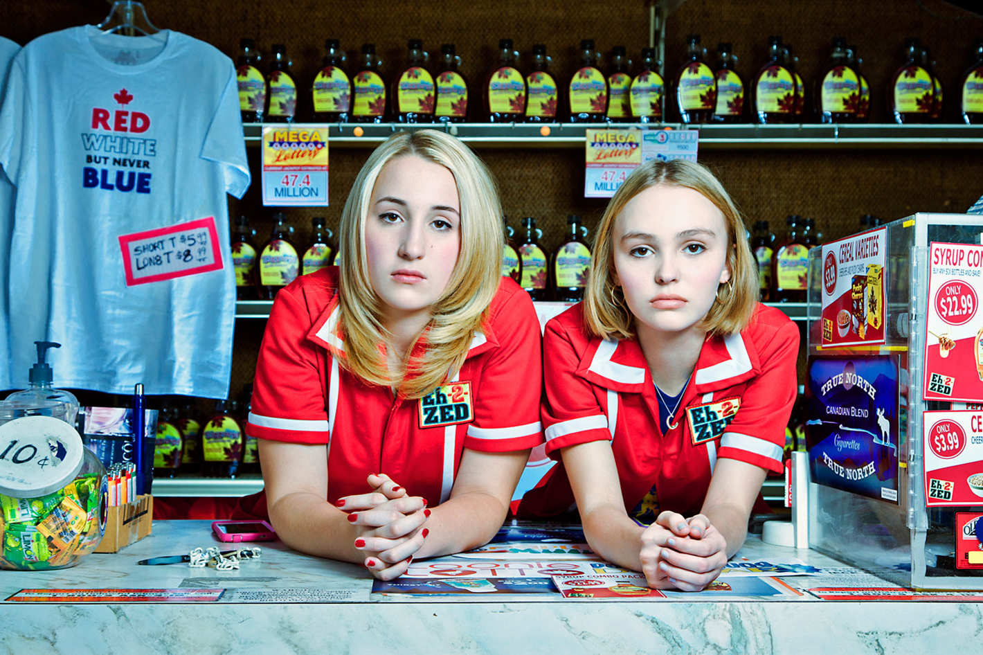 The two Colleens - Harley Quinn Smith and Lily-Rose Depp in Yoga Hosers (2016)