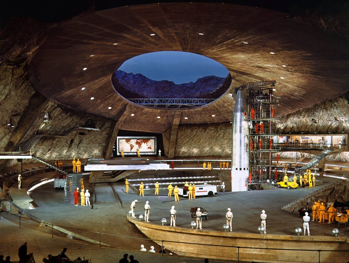 Ken Adam's stupendous set for the SPECTRE volcano base in You Only Live Twice (1967)